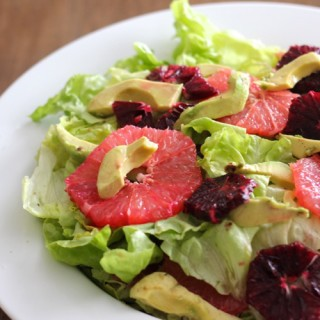 Grapefruit, Avocado, and Butter Lettuce Salad with Citrus Vinaigrette