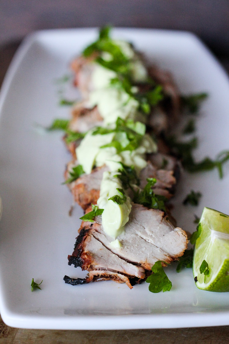 Chipotle Lime Grilled Pork Tenderloin with Avocado Cream ...