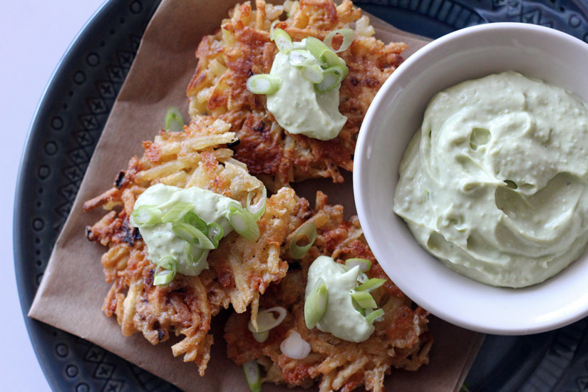 Latkes With Ancho-Chile Salt And Watercress Guacamole ...