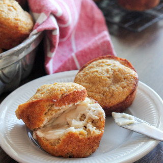 Whole Wheat Butternut Squash Muffins with Salted Maple Butter