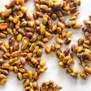 Honey Candied Pistachios