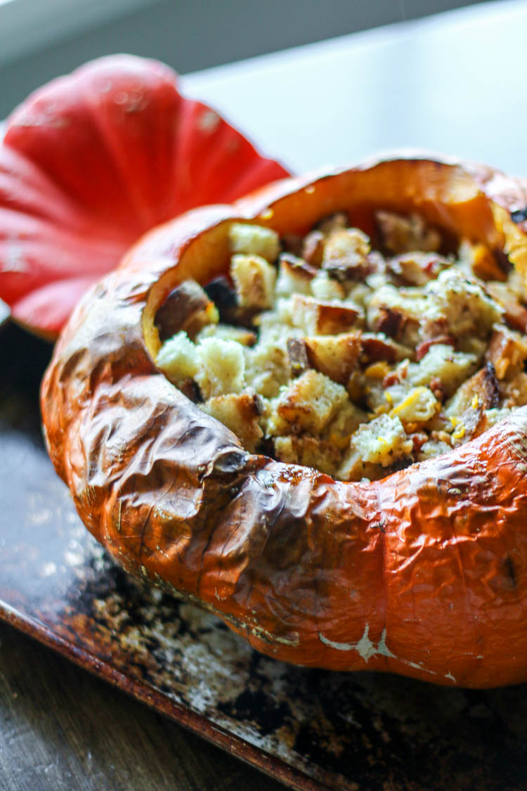 Pumpkin Stuffed with Everything Good - Wright Family Table