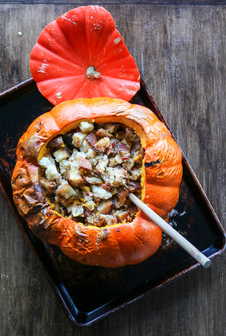 Pumpkin Stuffed With Everything Good Recipe — Dishmaps
